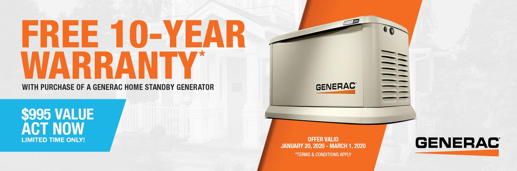 Homestandby Generator Deal | Warranty Offer | Generac Dealer | Greenwood, DE